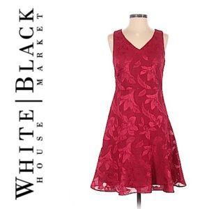 White House Black Market Floral A Line Party Dress